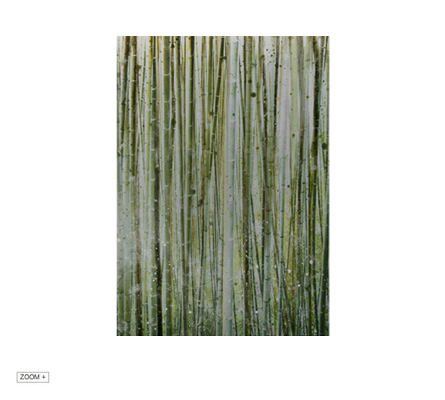 BAMBOO IN GOLD Art Pannel Alex Turco Love Happens