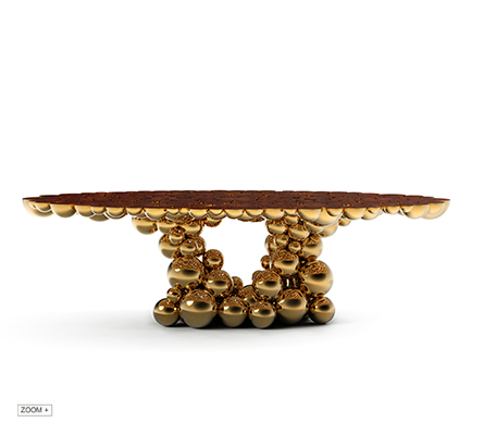 Newton Golden Myrtle Dining Table BOCA DO LOBO Love Happens