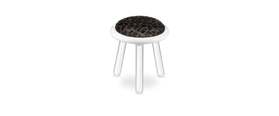Illusion Leopard Stool  CIRCU Love Happens