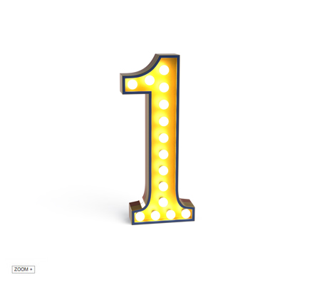 1 Number Graphic Lamp Delightfull Love Happens