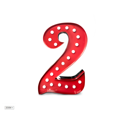 2 Number Graphic Lamp Delightfull Love Happens