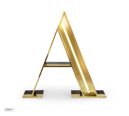 A | LETTER GRAPHIC LAMPS DELIGHTFULL