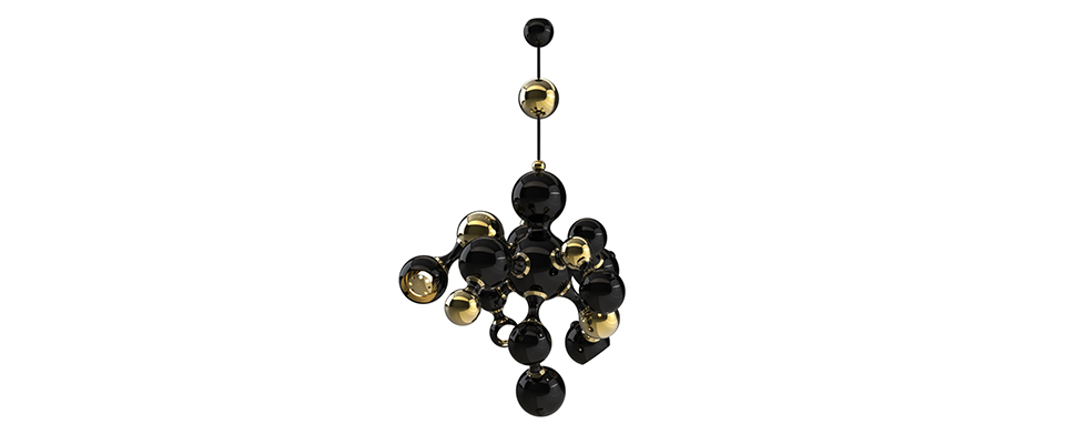 Atomic pendant  Chandelier  Delightfull Love Happens