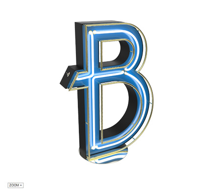 B | LETTER GRAPHIC LAMPS DELIGHTFULL