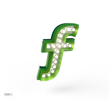 F | LETTER GRAPHIC LAMPS DELIGHTFULL