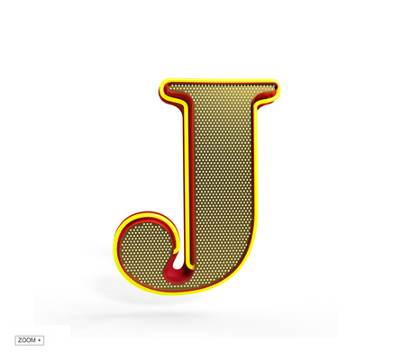 J Letter Graphic Lamp Delightfull Love Happens