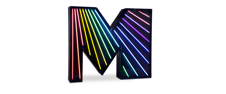 M | LETTER GRAPHIC LAMPS by DELIGHTFULL