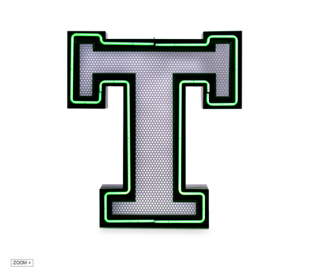 T Letter Graphic Lamp Delightfull Love Happens