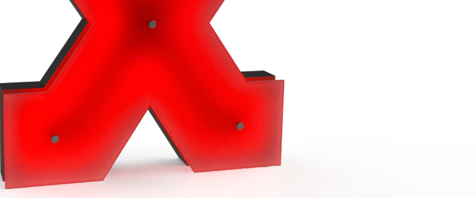 X | LETTER GRAPHIC LAMPS by DELIGHTFULL