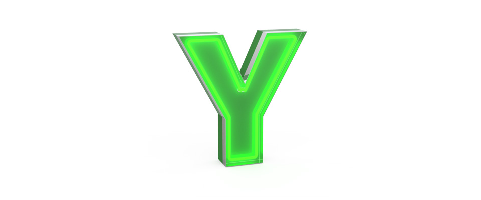 Y | LETTER GRAPHIC LAMPS by DELIGHTFULL