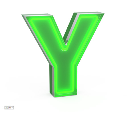 Y | LETTER GRAPHIC LAMPS DELIGHTFULL