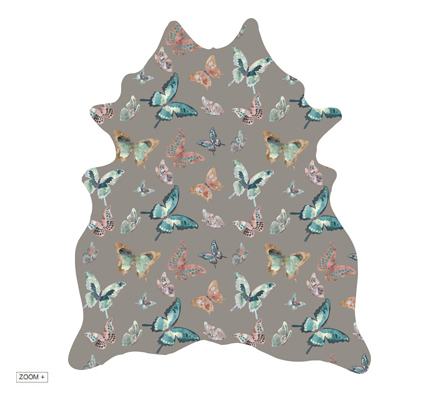 MADAME BUTTERFLY TAUPE Rug by Miyabi Casa