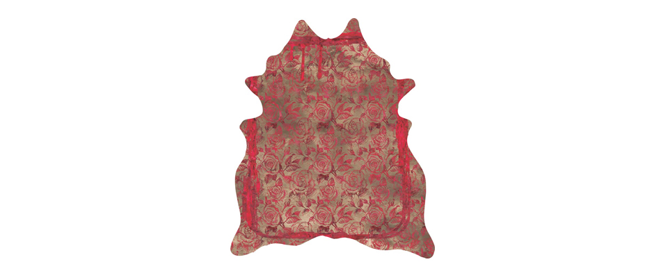 TEAR AND ROSES RED Rug by Miyabi Casa