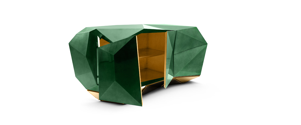 Diamond Emerald Sideboard by Boca Do Lobo   DEMORAIS INTERNATIONAL