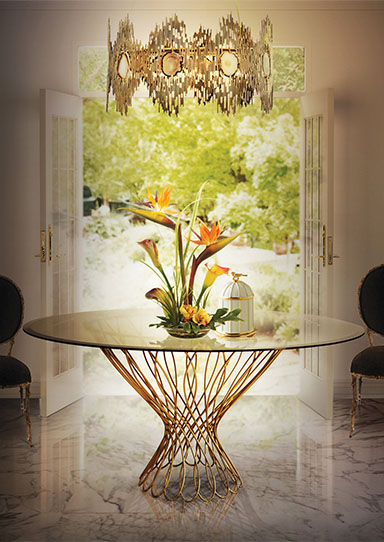 ALLURE DINING TABLE by KOKET