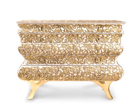 CROCHET GOLD CHEST by Boca do Lobo