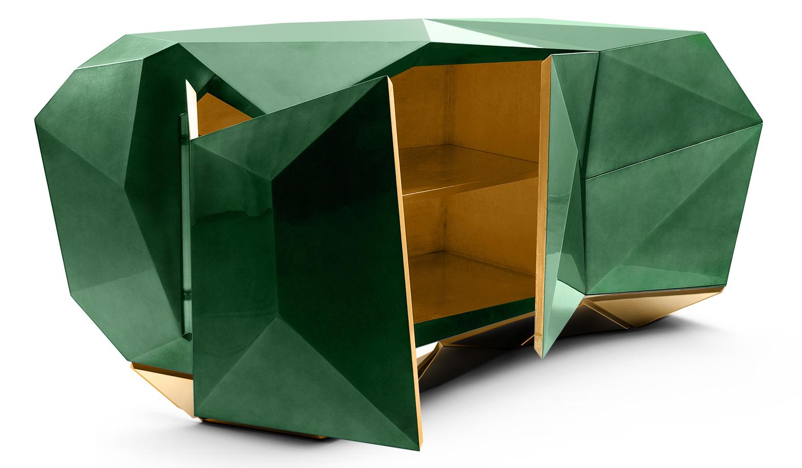 Diamond Emerald Sideboard by Boca Do Lobo | DEMORAIS INTERNATIONAL