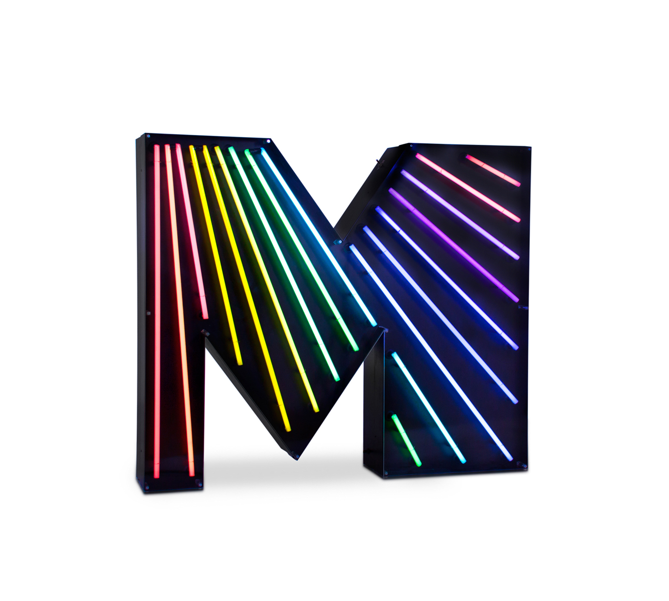 M Letter Graphic Lamp Delightfull Love Happens